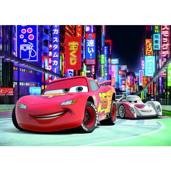 Puzzle Cars 2 XL - Fulgerul McQueen in Tokyo, 100 pcs.
