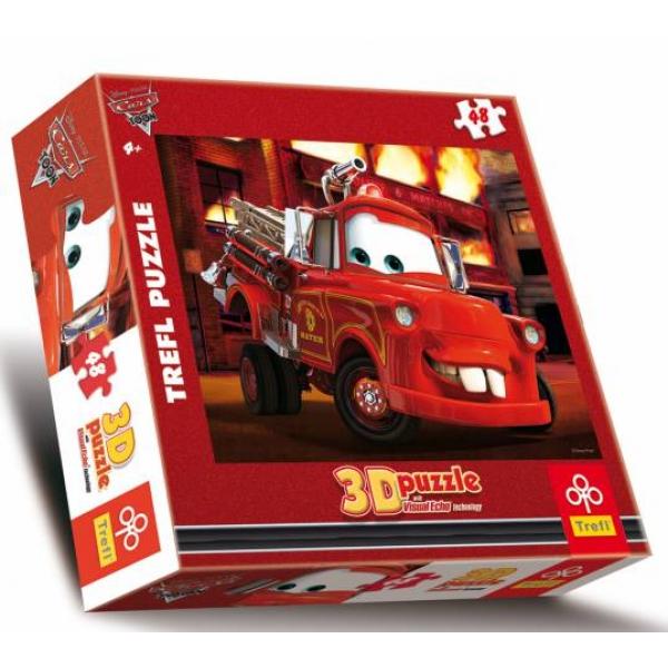 Puzzle Cars 3D-Cladirea in flacari, 48 piese