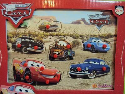 Puzzle Cars lemn, 15 piese