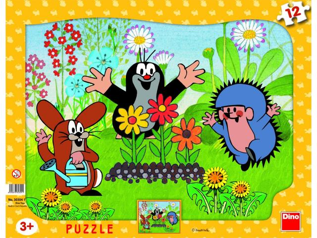 Puzzle Cartita in gradina, 12 pcs