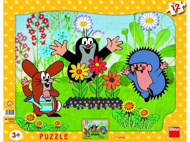 Puzzle Cartita in gradina, 12 pcs