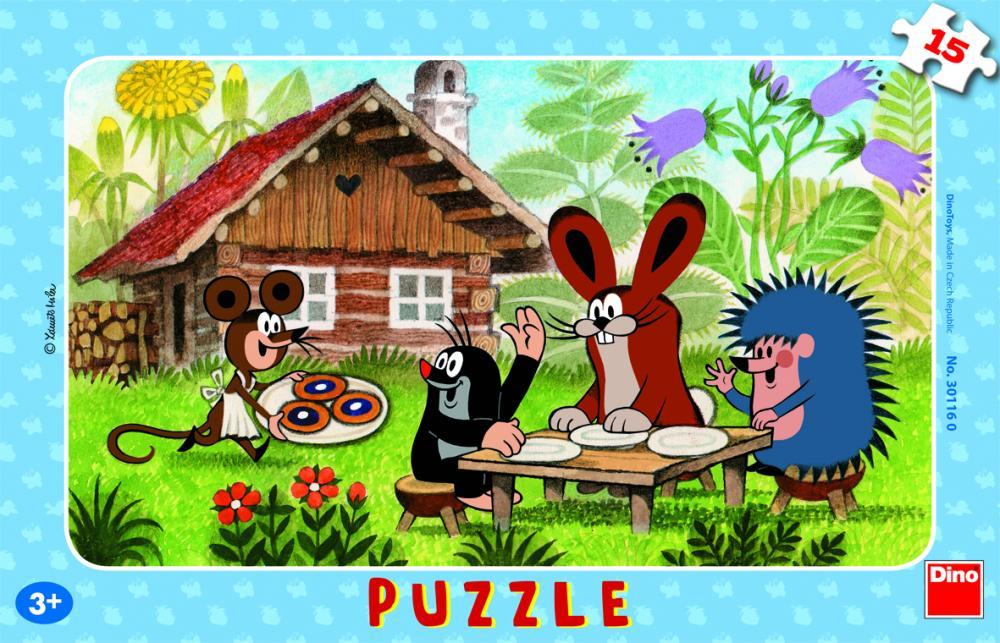 Puzzle Cartita in vizita, 15 pcs