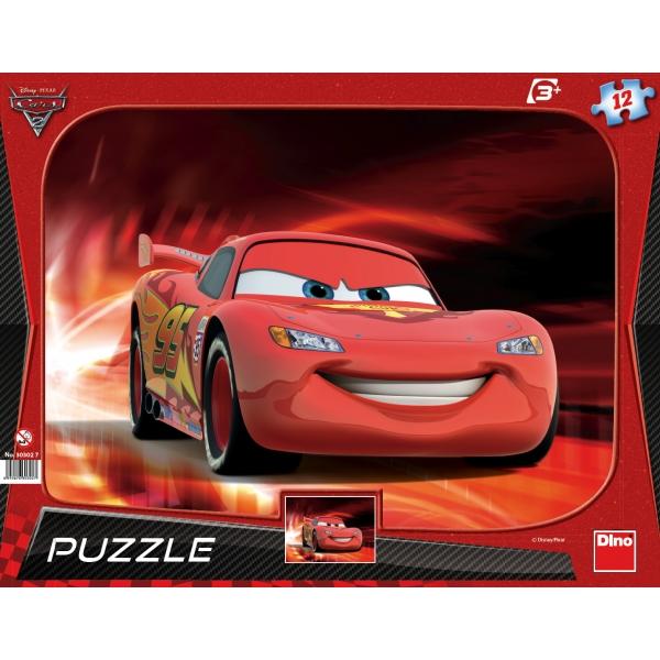 Puzzle contur Cars 2 - Fulgerul McQueen, 12 pcs.