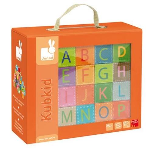 Puzzle cu cuburi,Litere,32pcs,Janod