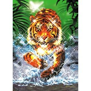 Puzzle cu efect metalic Tigru, 1000 piese