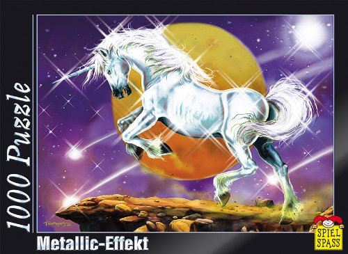 Puzzle cu efect metalic Unicorn, 1000 piese