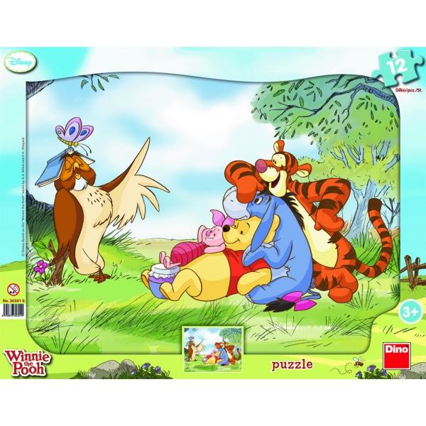 Puzzle cu forme - Winnie the Pooh, 12 pcs.