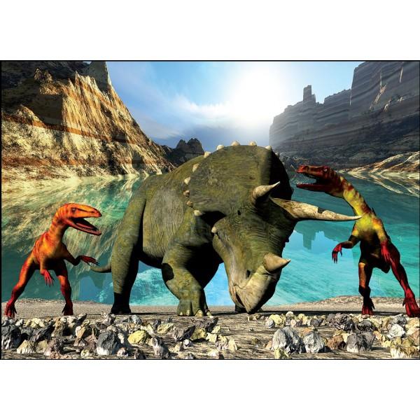 Puzzle Dinozaur Triceratops, 99 piese