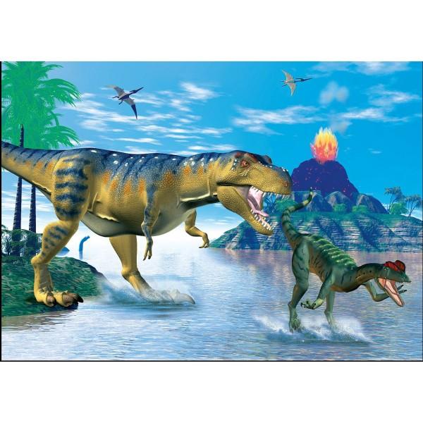 Puzzle Dinozaurul T-Rex, 99 piese