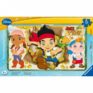 Puzzle disney jake si piratii, 15 pcs