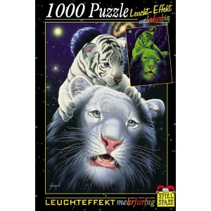 Puzzle fosforescent div modele, 1000 piese