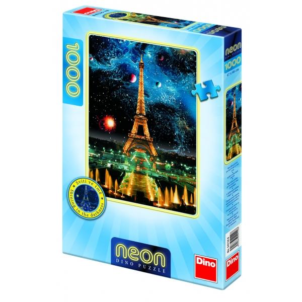 Puzzle fosforescent - Turnul Eiffel noaptea, 1000 pcs.