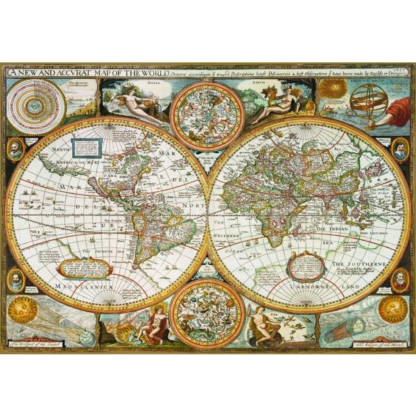 Puzzle Harta antica, 500 piese