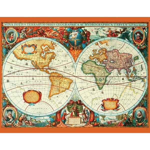Puzzle Harta anului 1630, 1000 pcs.