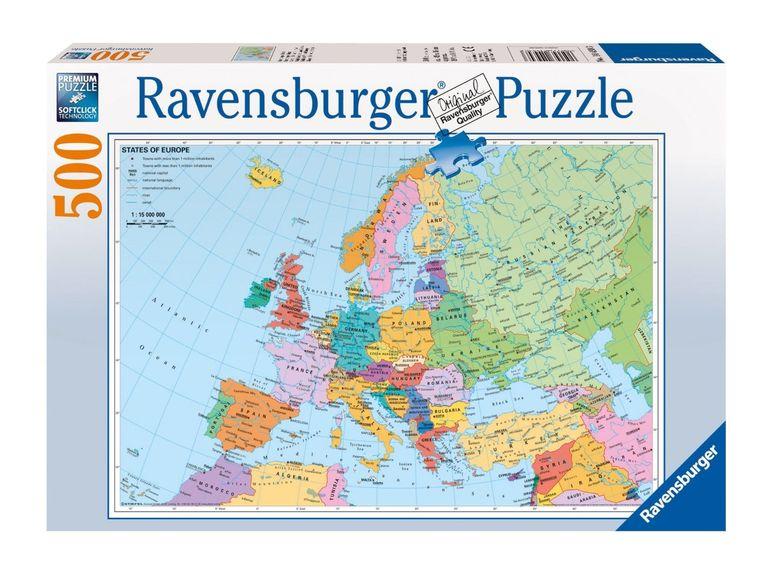 Puzzle harta politica a europei, 500 pcs