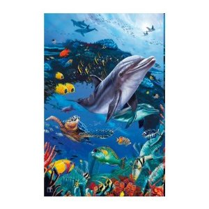 Puzzle holografic Delfin, 500 piese