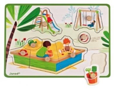 Puzzle lemn,In parc,8pcs,Janod