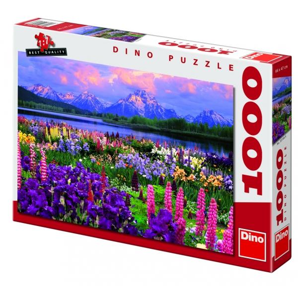 Puzzle Lunca in munti, 1000 piese