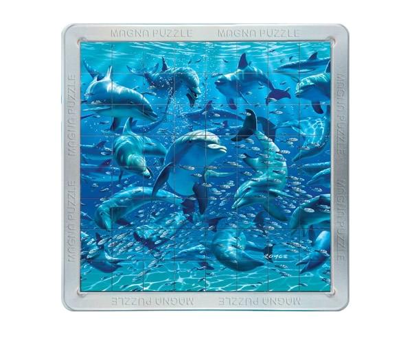 Puzzle magnetic 3D Delfinii