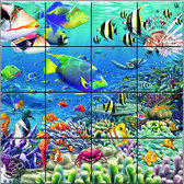 Puzzle magnetic 3D Recif tropical