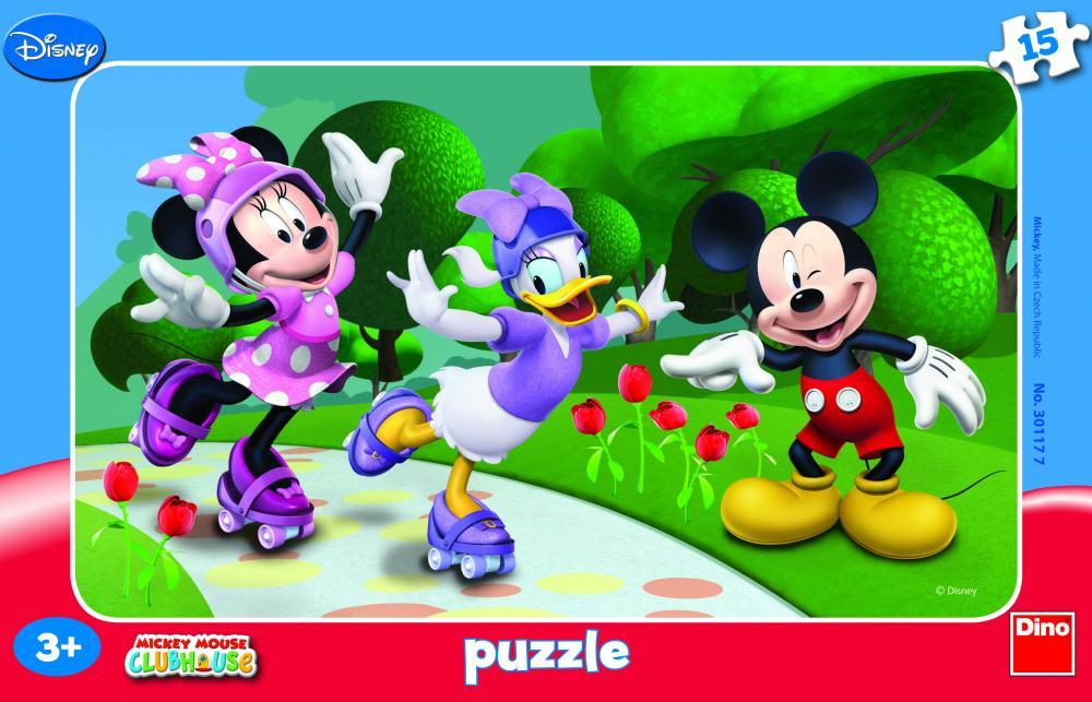 Puzzle Minnie si prietenii, 15 pcs