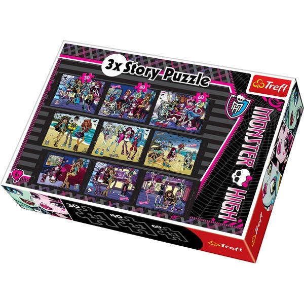 Puzzle monster high 3 x story,9 imagini