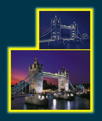 Puzzle neon Tower Bridge, 1000 piese