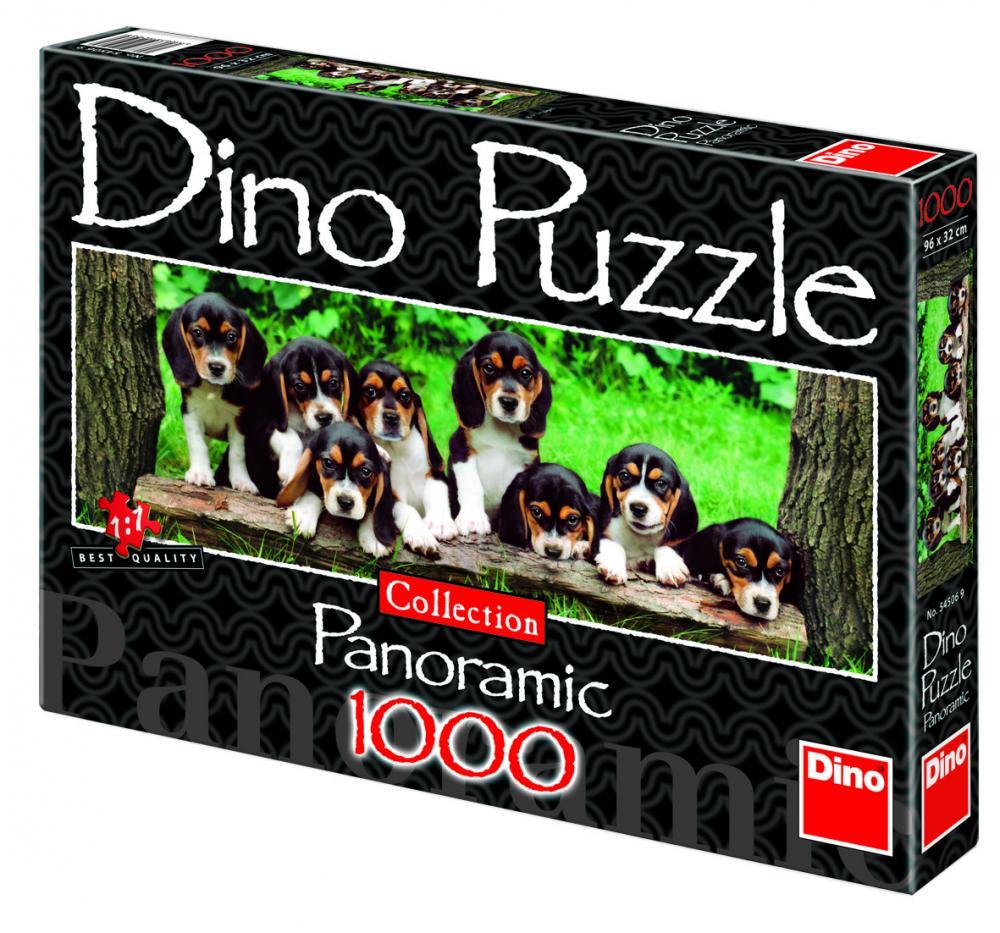 Puzzle panoramic catelusi, 1000 piese .