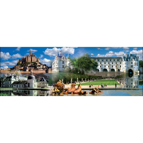 Puzzle panoramic Colaj Franta, 1000 piese