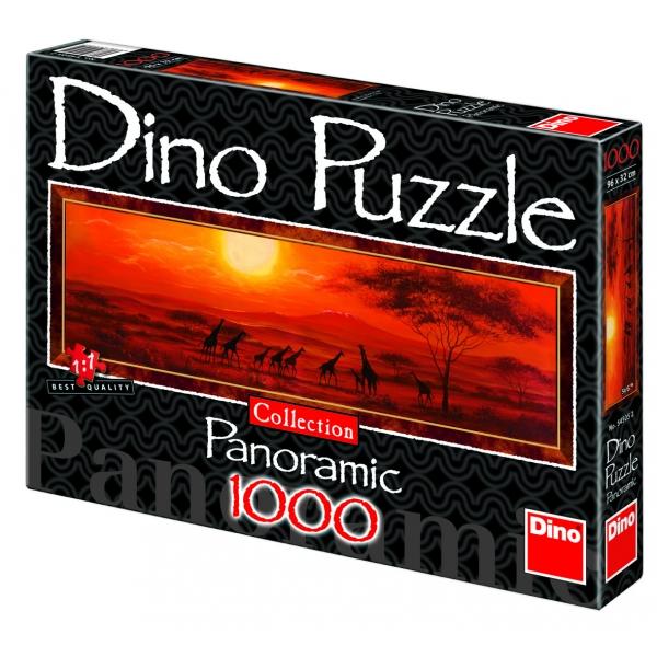 Puzzle panoramic - Girafele, 1000 piese