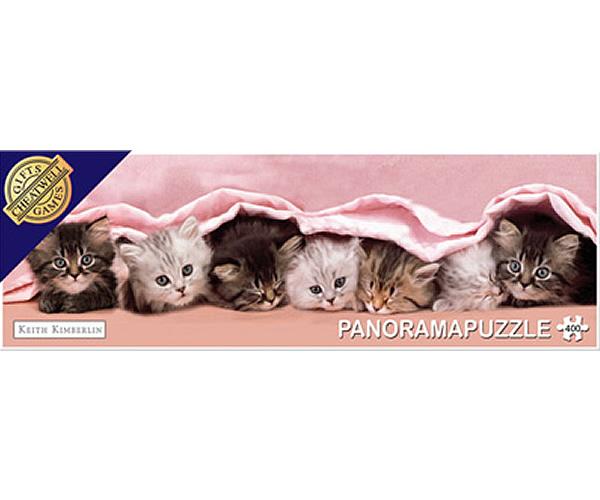 Puzzle panoramic Paturica pisicilor