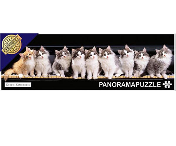 Puzzle panoramic Pianul pisicilor