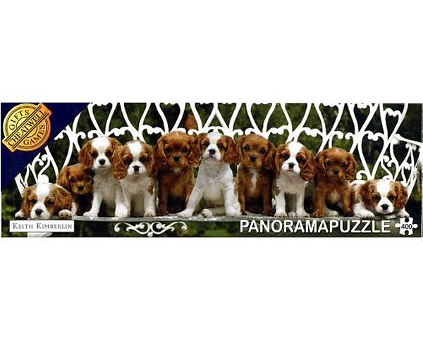 Puzzle panoramic Regele Charles Spaniels