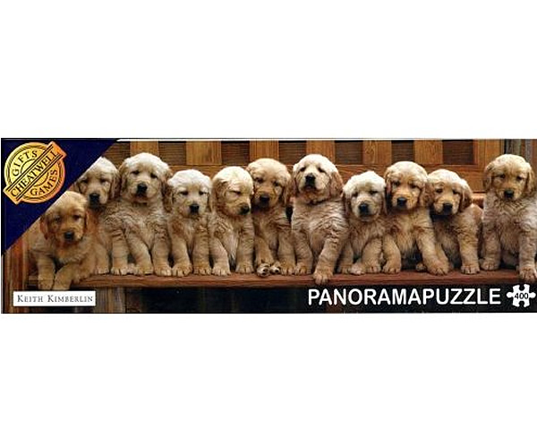Puzzle panoramic Retrieveri aurii