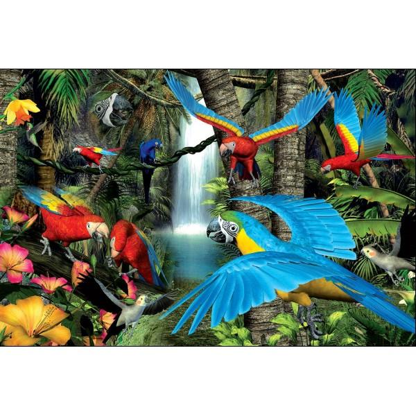 Puzzle Papagali, 1000 piese