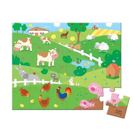 Puzzle Pe camp,24 piese