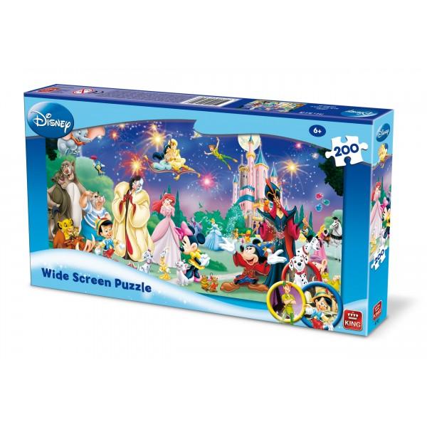 Puzzle Personaje Disney, 200 piese