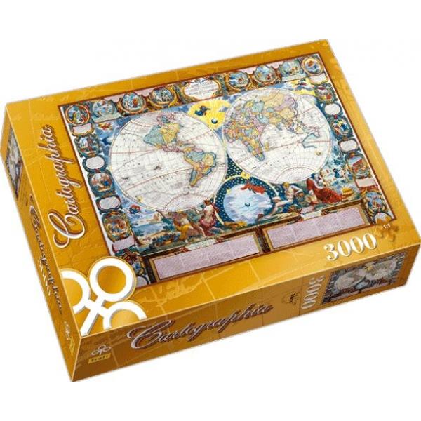 Puzzle Planiglobul din 1749, 3000 piese