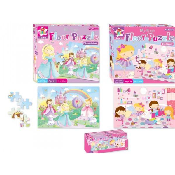 Puzzle podea pt. fetite, 45 pcs.