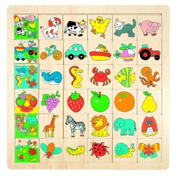 Puzzle Potriveste animalele, 31 x 31 cm
