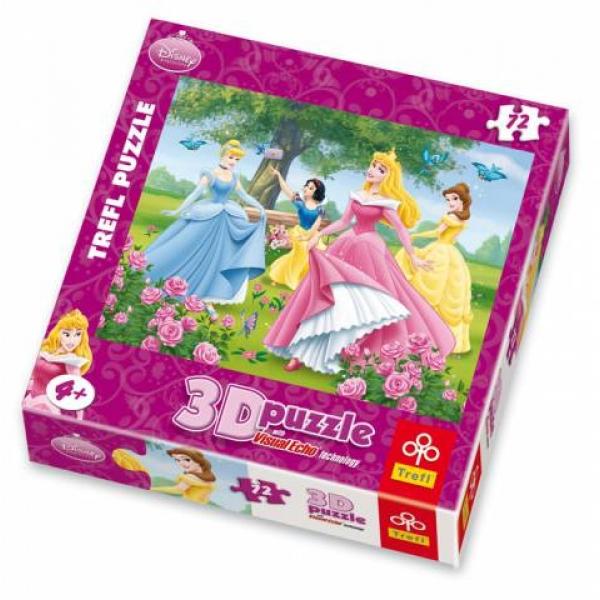 Puzzle Princess 3D-Gradina trandafirilor, 72 pcs.