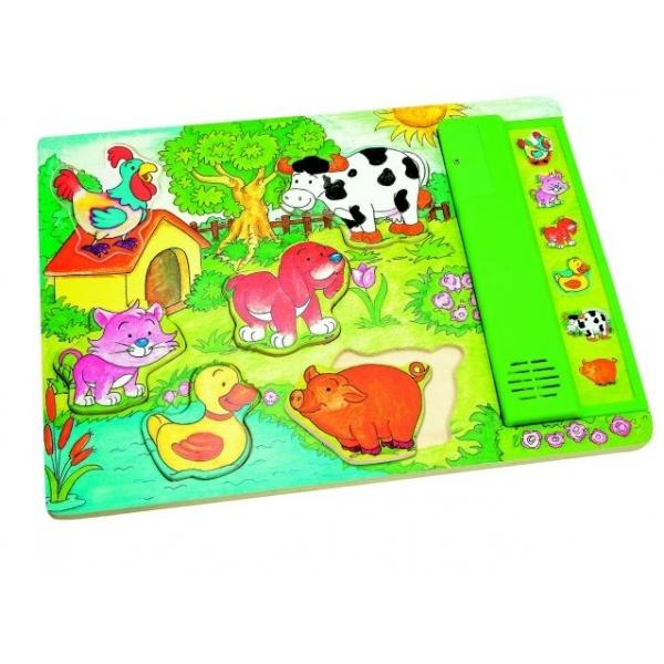 Puzzle Sunete animale de curte