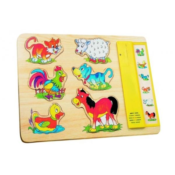 Puzzle Sunetele animalelor, 30 x 21 cm