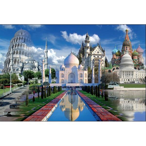 Puzzle Temple si turnuri celebre,1000piese