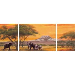 Puzzle triptic Elefant, 2000 piese