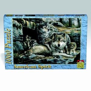 Puzzle US spirit Familia de lupi, 1000 piese