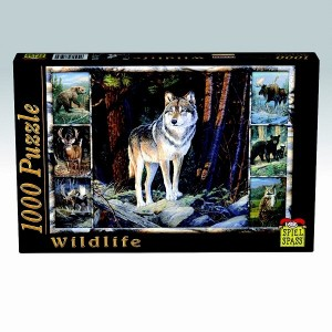 Puzzle Wildlife Lup, 1000 piese