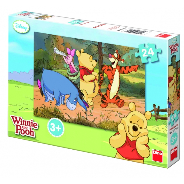 Puzzle Winnie the Pooh in expeditie, 24 pcs.