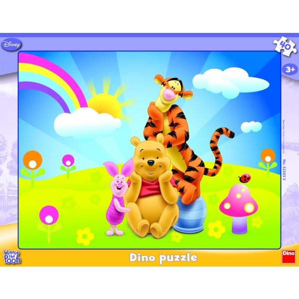 Puzzle Winnie the Pooh - Taramul fantastic, 40 pcs.