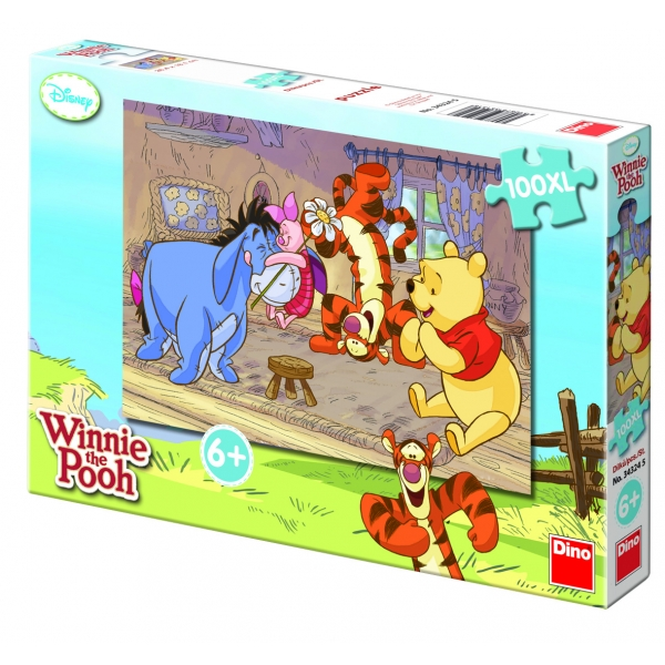 Puzzle Winnie the Pooh XL - Luptatorul norocos, 100 pcs.